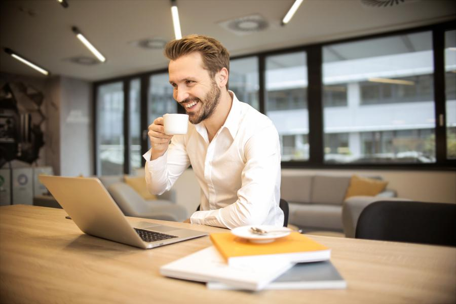 Man smiling with turning hobbies into profits
