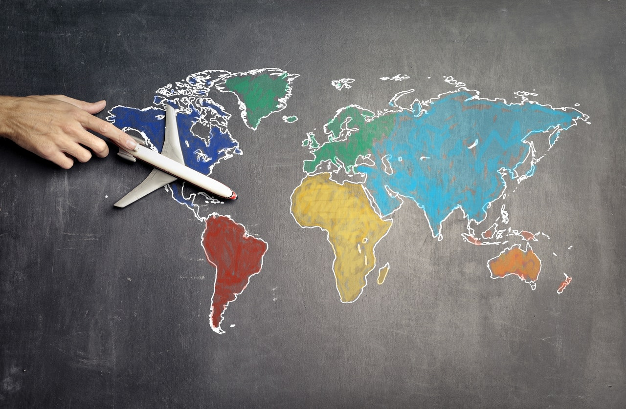 Showing the global strategy planning