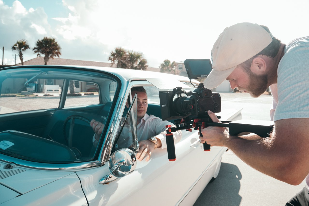 Shooting car scene and with minimum shots
