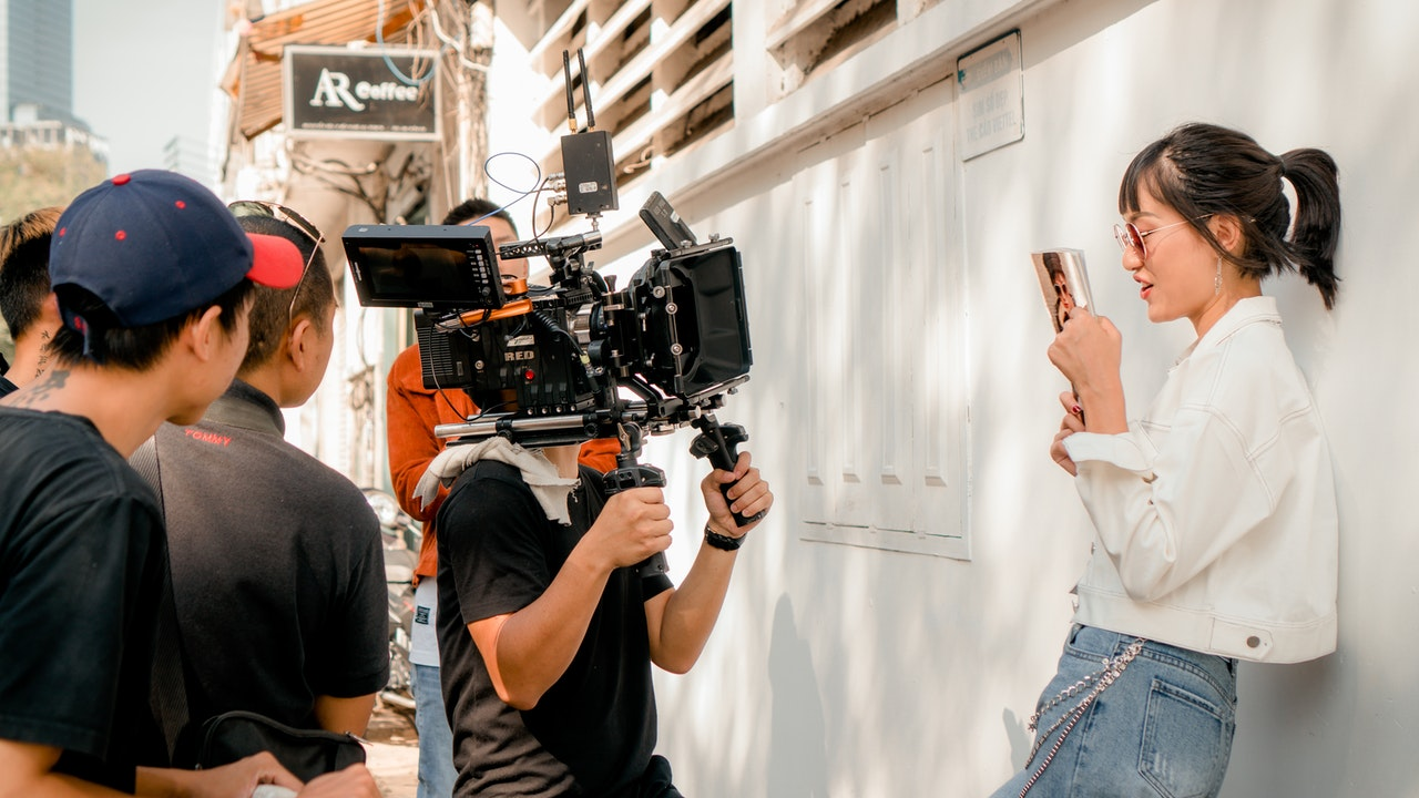Showing film Shooting and applying Lean Six Sigma in Filmmaking