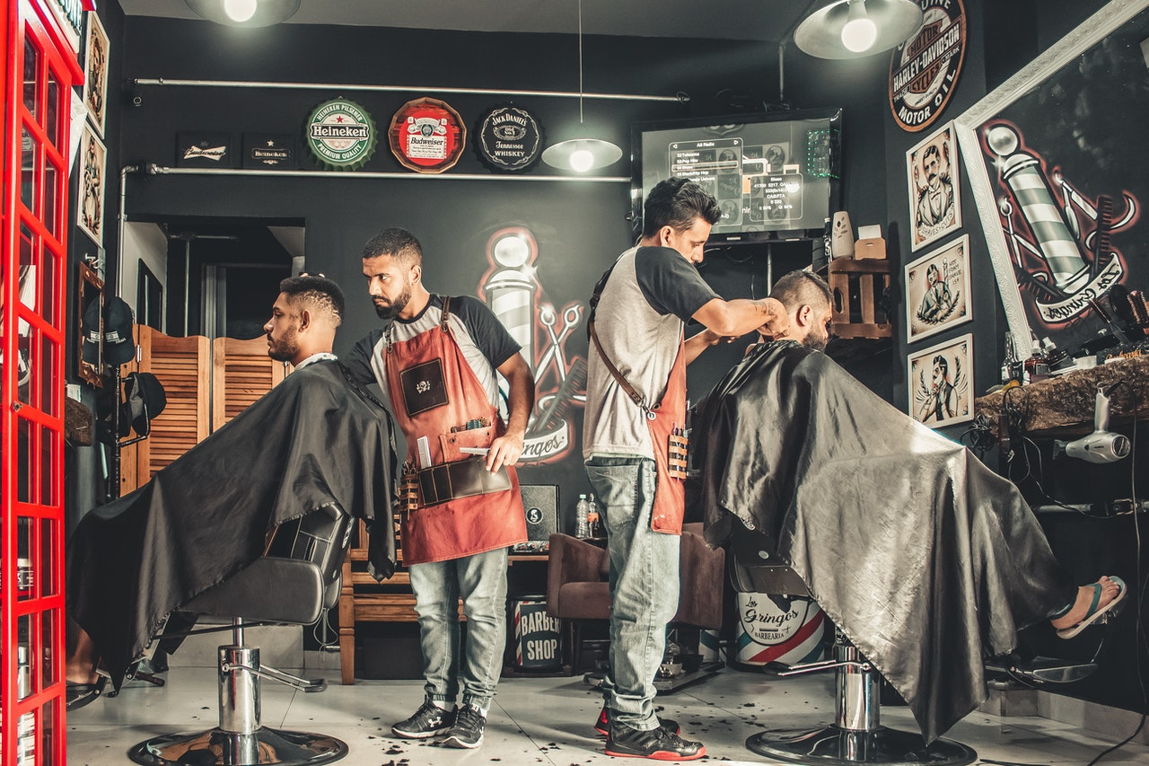 Barbar Salon depicting the variety of small businesses