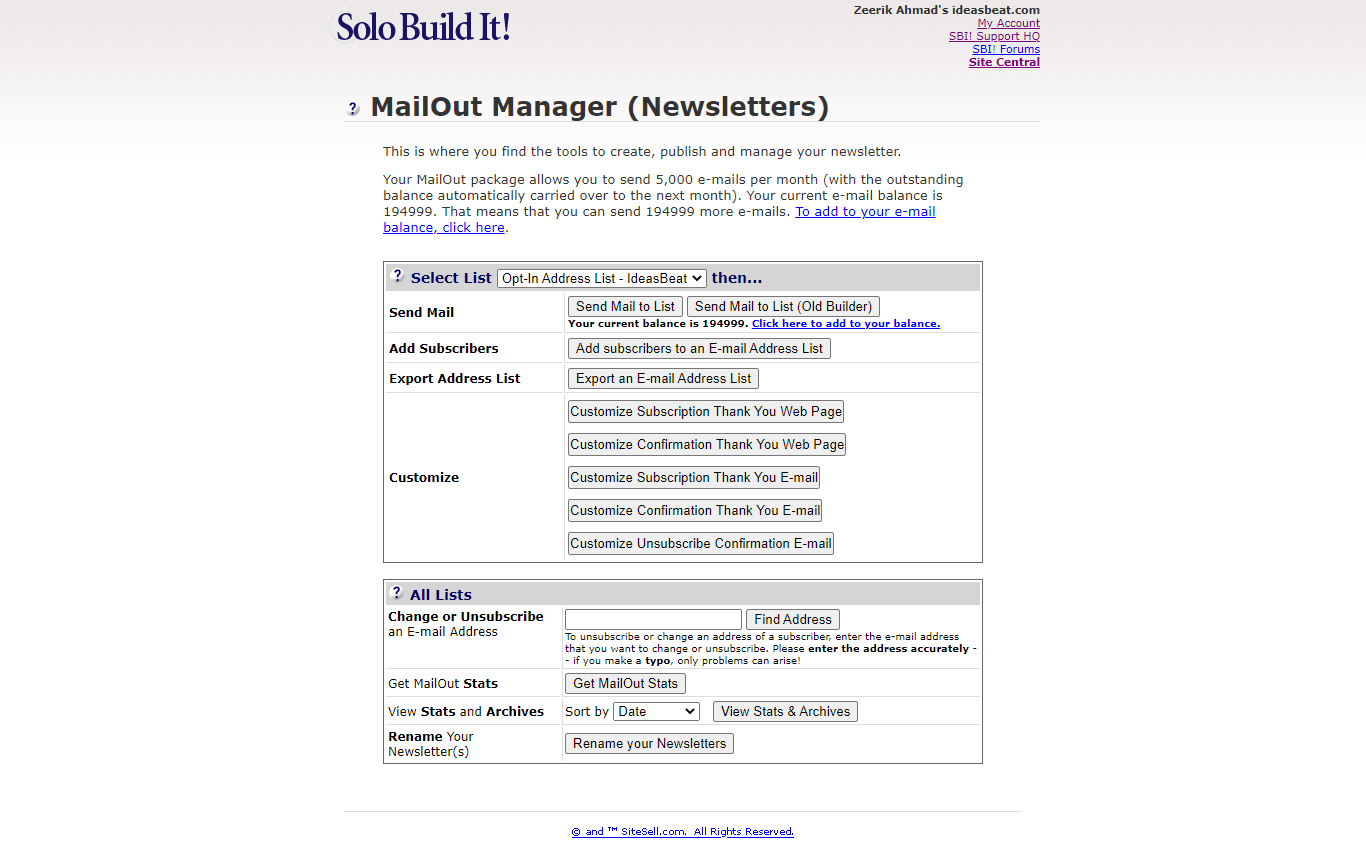 Solo Build It Newsletter Module