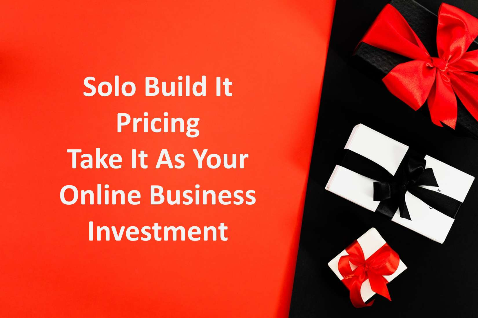 Solo Build It Pricing