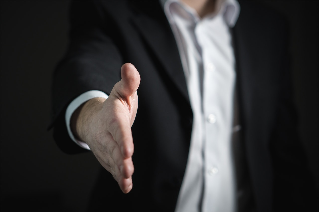 Corporate Social Responsibility handshake