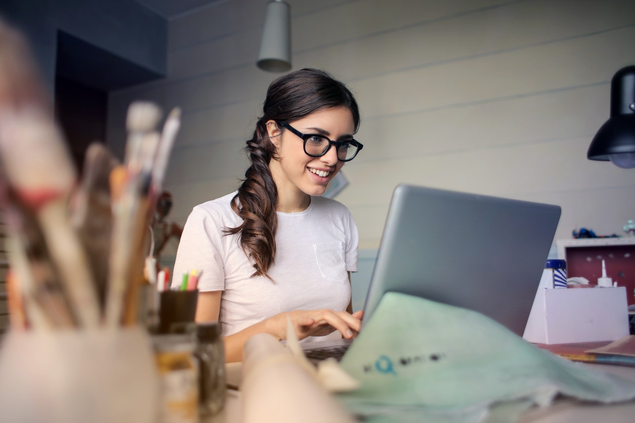 Woman planning the company growth through