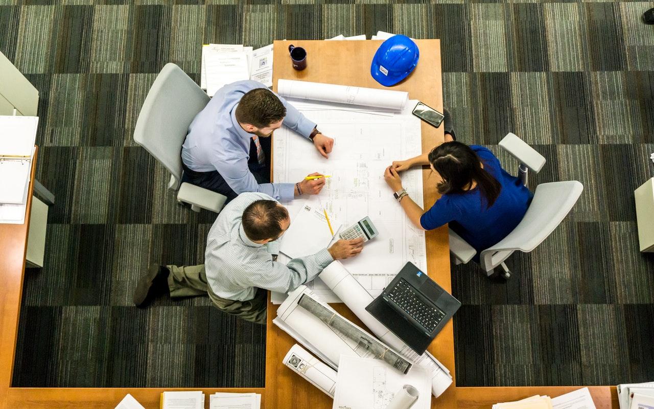 Team working on management theories