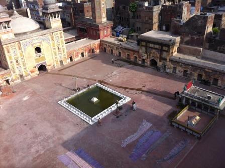 Wazir Khan Mosque aerial view