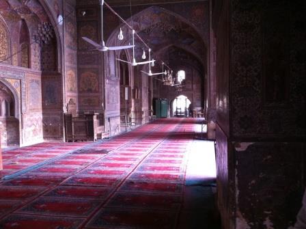 Wazir Khan Mosque inside view
