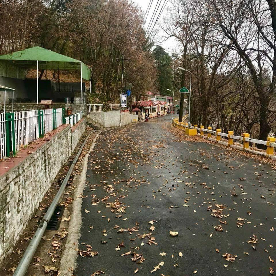 Murree Serene Road with rain