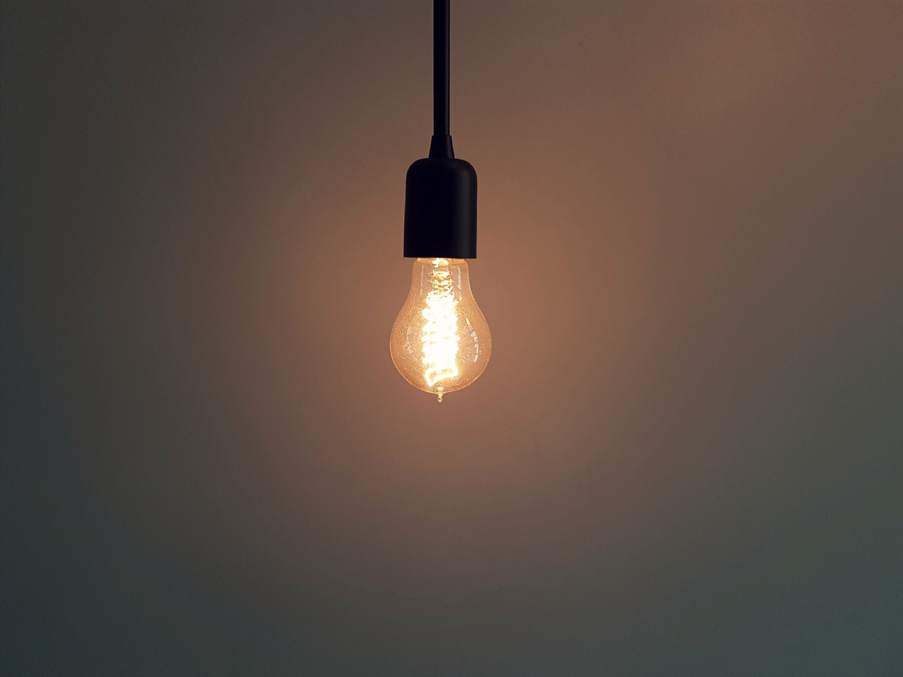 Lighted bulb reflecting as disruptive innovation
